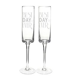 Cathy's Concepts Best Day Ever Champagne Flutes