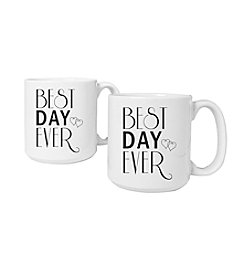 Cathy's Concepts Best Day Ever Set of 2 Large Coffee Mugs