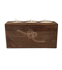 Cathy's Concepts Tie-the-Knot Wood Sugar Mold Candle Holder