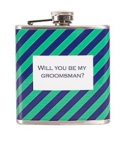 Cathy's Concepts Will You Be My Groomsman? Patterned Flask