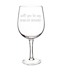 Cathy's Concepts Will You Be My Maid of Honor? XL Wine Glass