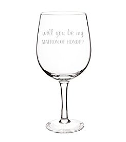 Cathy's Concepts Will You Be My Matron of Honor? XL Wine Glass