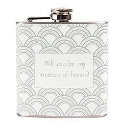 Cathy's Concepts Will You Be My Matron of Honor? Gatsby Flask