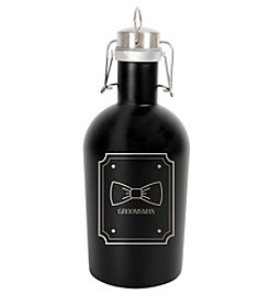 Cathy's Concepts Black Stainless Steel Groomsman Growler