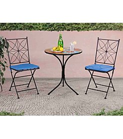 Sunjoy Poppy Mosaic 3-pc. Bistro Set