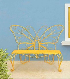 Sunjoy Yellow Butterfly Bench