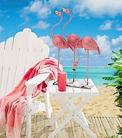 Sunjoy Three Flamingos Sculpture