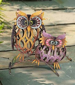 Sunjoy Set of 2 Whimsical Owls Garden Sculptures