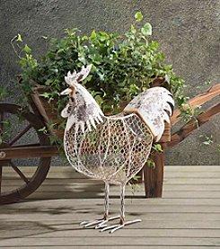 Sunjoy Rustic Rooster Garden Sculpture