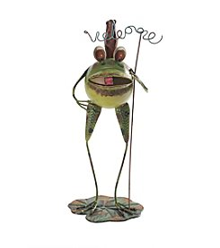 Sunjoy Whimsical Welcome Frog Garden Sculpture