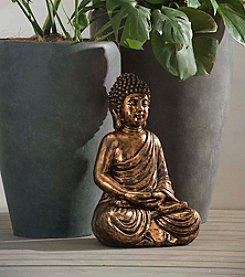 Sunjoy Bronze Sitting Buddha Statue