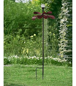 Sunjoy Kinetic Solar LED Flower Garden Stake