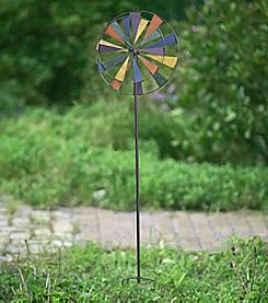 Sunjoy Kinetic Windmill Garden Stake
