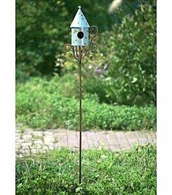 Sunjoy Round Birdhouse Garden Stake