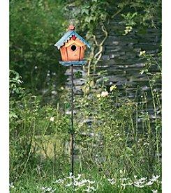 Sunjoy Square Birdhouse Garden Stake