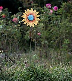 Sunjoy Set of 2 Sunflower Garden Stakes