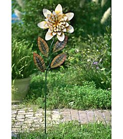 Sunjoy Yellow Flower Garden Stake