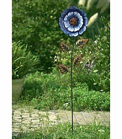 Sunjoy Blue Flower Garden Stake