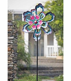 Sunjoy Metal Flower Kinetic Garden Stake