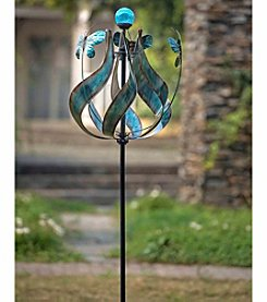 Sunjoy Blue Kinetic Solar Wind Catcher