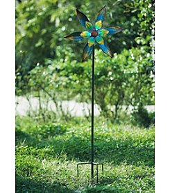 Sunjoy Set of 3 Multi-Colored Flower Garden Stake