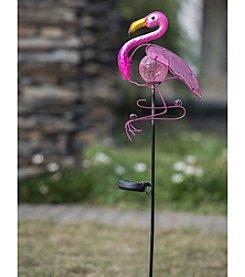 Sunjoy Flamingo Solar LED Garden Stake