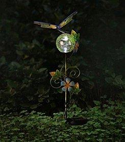 Sunjoy Dragonfly Solar LED Garden Stake