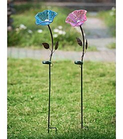 Sunjoy Flower Garden Stake with LED Solar Technology
