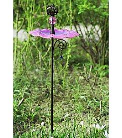 Sunjoy Pink Bird Feeder Garden Stake