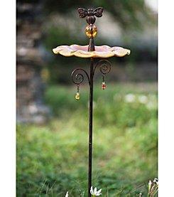 Sunjoy Amber Bird Feeder Garden Stake
