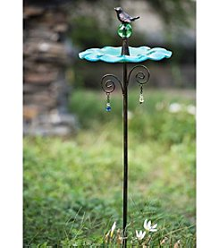 Sunjoy Blue Bird Feeder Garden Stake