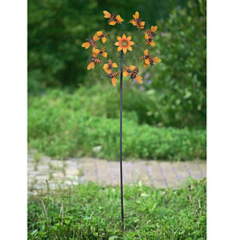 Sunjoy Bumblebee Kinetic Wind Catcher Garden Stake
