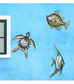 Sunjoy Sea Life Outdoor Wall Decor Set