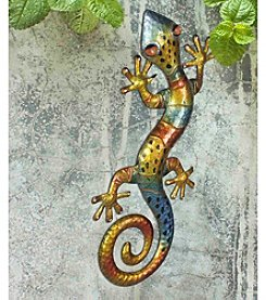 Sunjoy Multi-Colored Gecko Outdoor Wall Decor
