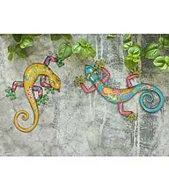 Sunjoy Set of 2 Gecko Outdoor Wall Decor