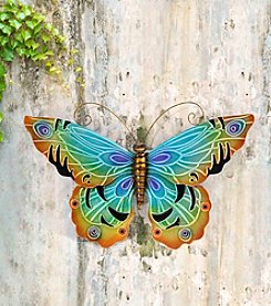 Sunjoy Blue Butterfly Outdoor Wall Decor