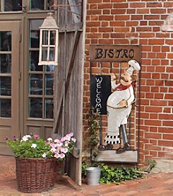 Sunjoy Friendly Bistro Chef Metal Wall Decor