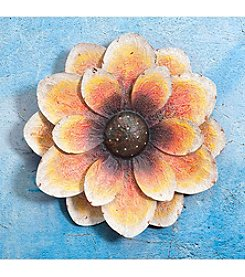 Sunjoy Oversized Orange Flower Wall Decor