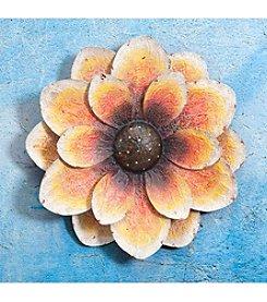 Sunjoy Oversized Orange Flower Wall Decor