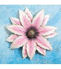 Sunjoy Oversized Pink Flower Wall Decor