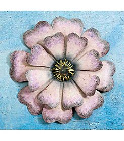 Sunjoy Oversized Purple Flower Wall Decor
