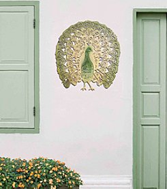 Sunjoy Colorful Peacock Wall Decor