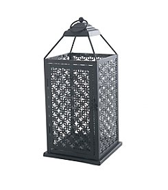 Sunjoy Pierced Metal and Glass Lantern