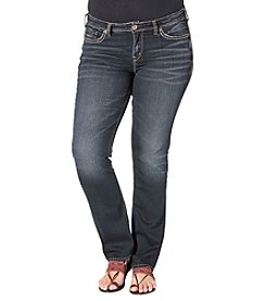Silver Jeans Co. Plus Size Aiko Mid Straight Jeans