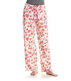 HUE® Simple Heart Pajama Pants