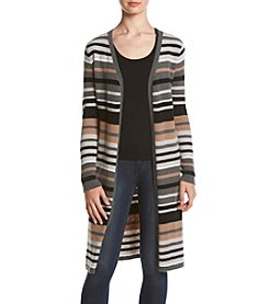 no comment™ Long Striped Duster Cardigan