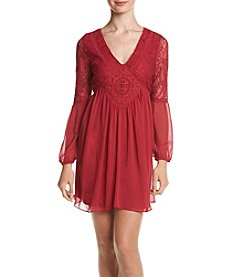 A. Byer Crochet Shift Dress