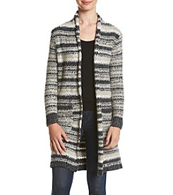 Kensie® Cozy Stripe Cardigan