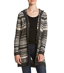Sequin Hearts® Hooded Cardigan