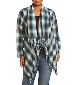 Hippie Laundry Plus Size Plaid Cozy Cardigan